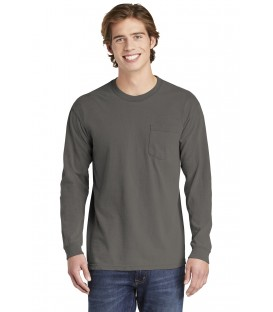Heavyweight Ring Spun Long Sleeve Pocket Tee