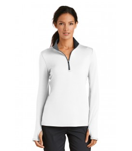 Ladies Dri-FIT Stretch 1/2-Zip Cover-Up