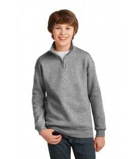 Youth NuBlend 1/4-Zip Cadet Collar Sweatshirt