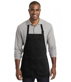Medium-Length Two-Pocket Bib Apron