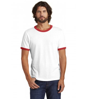 White/ Red - AA5103 - Alternative Apparel