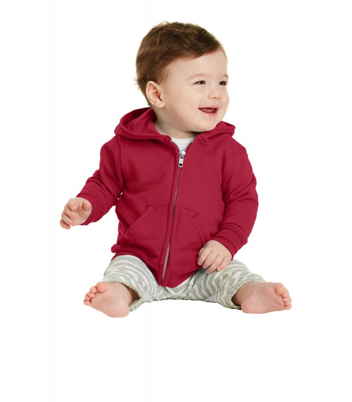 Precious Cargo Unisex-Baby Full Zip Hooded Sweatshirt 12M Candy Pink