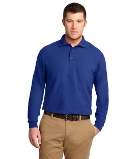 Silk Touch Long Sleeve Polo