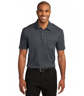 Poly-Charcoal Blend Pique Polo