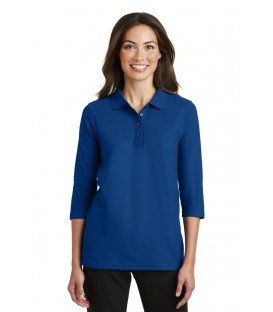 Ladies Silk Touch 3/4-Sleeve Polo