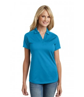 Ladies Poly-Charcoal Blend Pique Polo