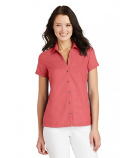 Ladies Performance Fine Jacquard Polo