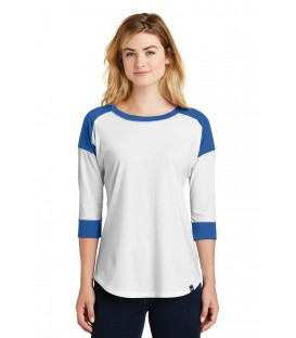 Ladies Heritage Blend 3/4-Sleeve Baseball Raglan Tee