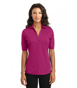Ladies Concept Stretch 3/4-Sleeve Scoop Henley