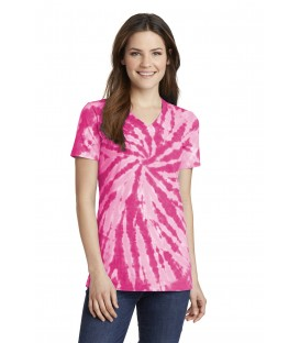 Ladies Tie-Dye V-Neck Tee