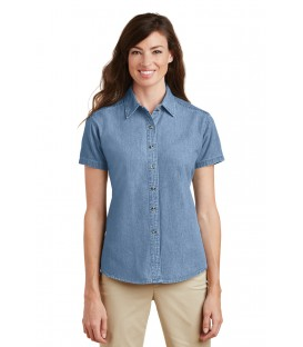 Ladies Short Sleeve Value Denim Shirt
