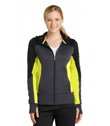 Black/ Graphite Heather/ Citron - LST245 - Sport-Tek