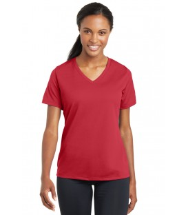 Ladies PosiCharge RacerMesh V-Neck Tee