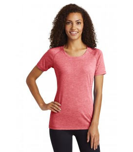 Ladies PosiCharge Tri-Blend Wicking Scoop Neck Raglan Tee