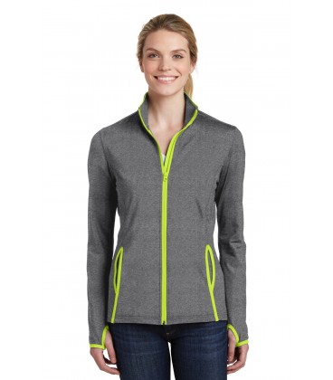Charcoal Grey Heather/ Charge Green - LST853 - Sport-Tek