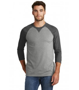 Sueded Cotton Blend 3/4-Sleeve Baseball Raglan Tee
