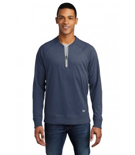 Sueded Cotton Blend 1/4-Zip Pullover