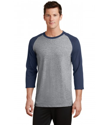 Athletic Heather/ Navy - PC55RS - Port & Company