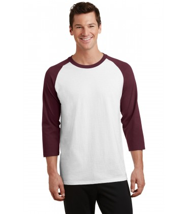 White/ Athletic Maroon - PC55RS - Port & Company