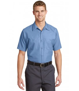 Long Size, Short Sleeve Industrial Work Shirt
