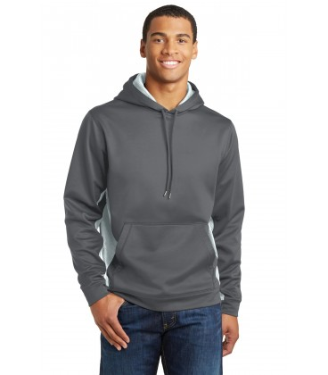 Sleeve Stripe Pullover Hooded Sweatshirt