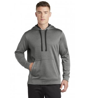 PosiCharge Sport-Wick Heather Fleece Hooded Pullover