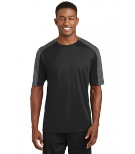 PosiCharge Competitor Sleeve-Blocked Tee