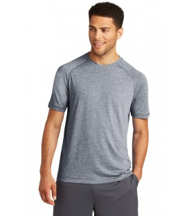 PosiCharge RacerMesh Raglan Heather Block Polo