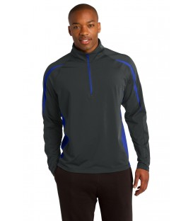 Sport-Wick Stretch 1/2-Zip Colorblock Pullover