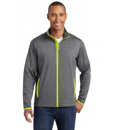 Charcoal Grey Heather/ Charge Green - ST853 - Sport-Tek