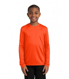 Neon Orange - YST350LS - Sport-Tek