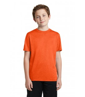 Deep Orange Heather - YST360 - Sport-Tek