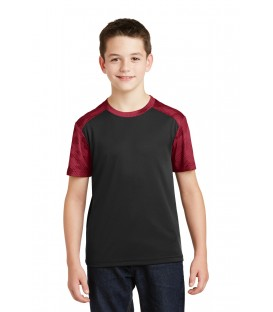 Black/ Deep Red - YST371 - Sport-Tek