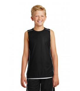 Youth PosiCharge Mesh Reversible Sleeveless Tee