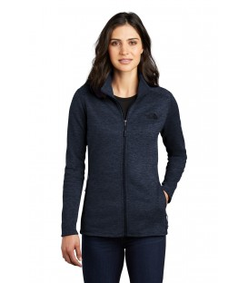 Ladies Full-Zip Heather Stretch Fleece Jacket